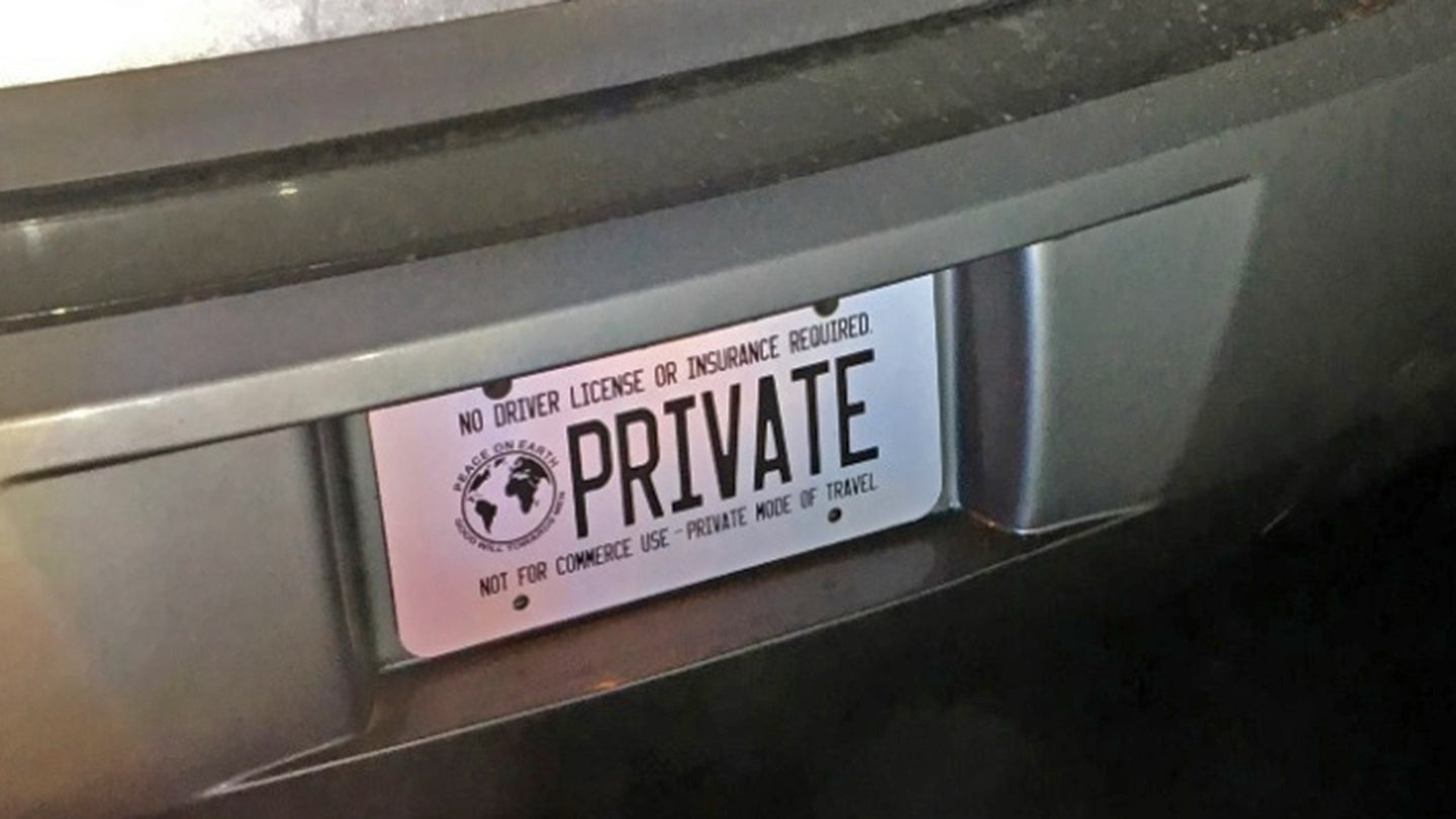 washington bellevue sovereign citizen license plate