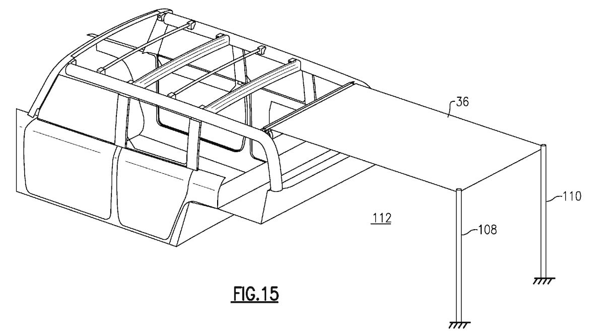 2020 Ford Bronco Roof Patent Drawings