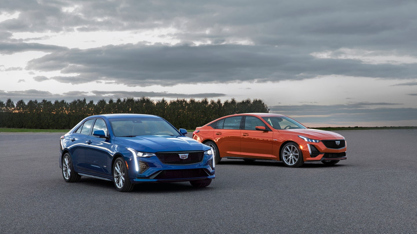 The first-ever 2020 CT4-V and CT5-V are driven by Cadillac's l