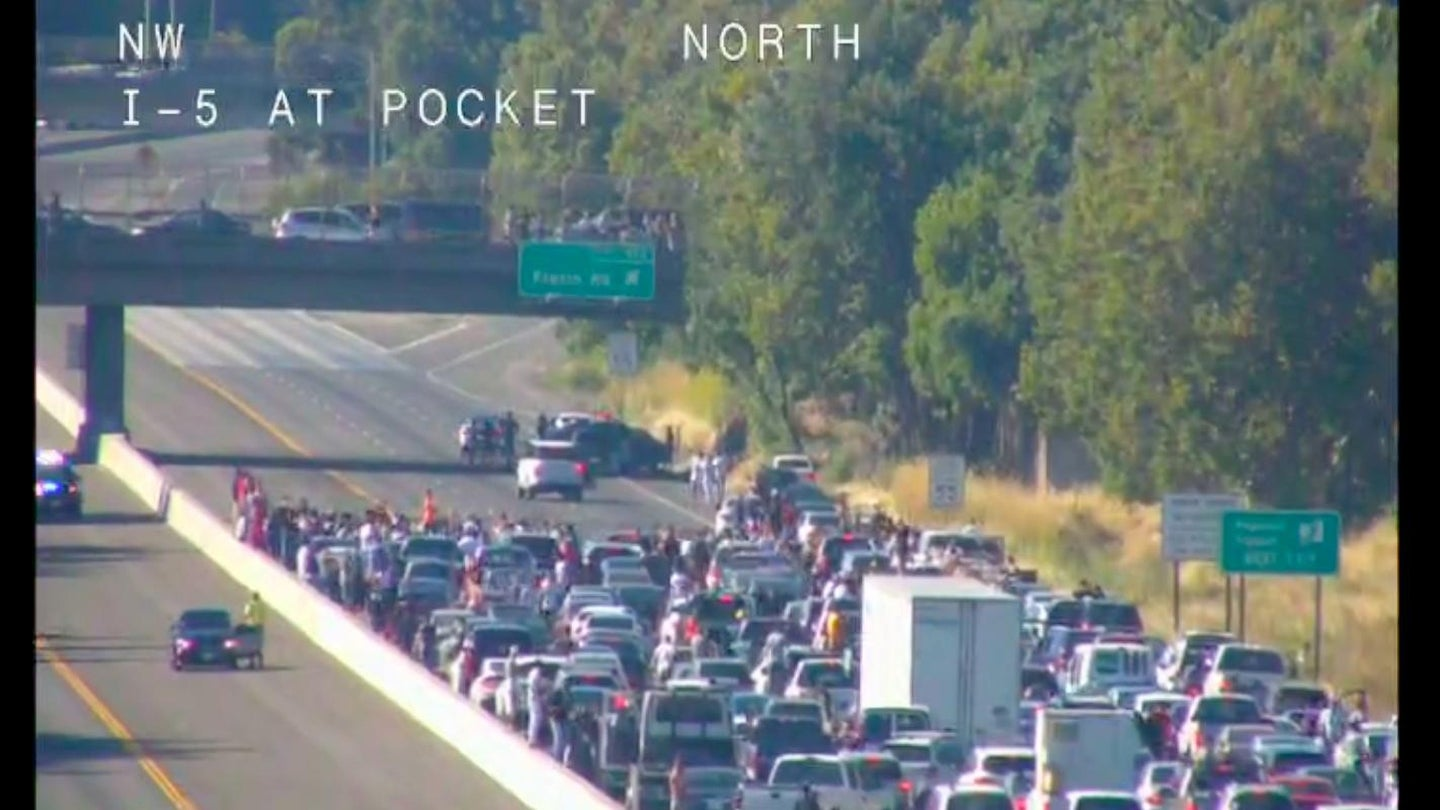 Sacramento I5 Sideshow Traffic Camera July 2019