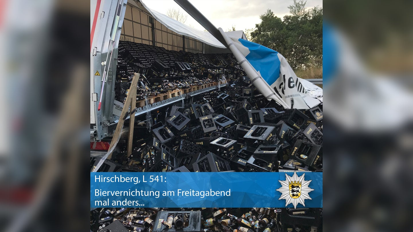 Beer Truck Crash Germany Aug 2019