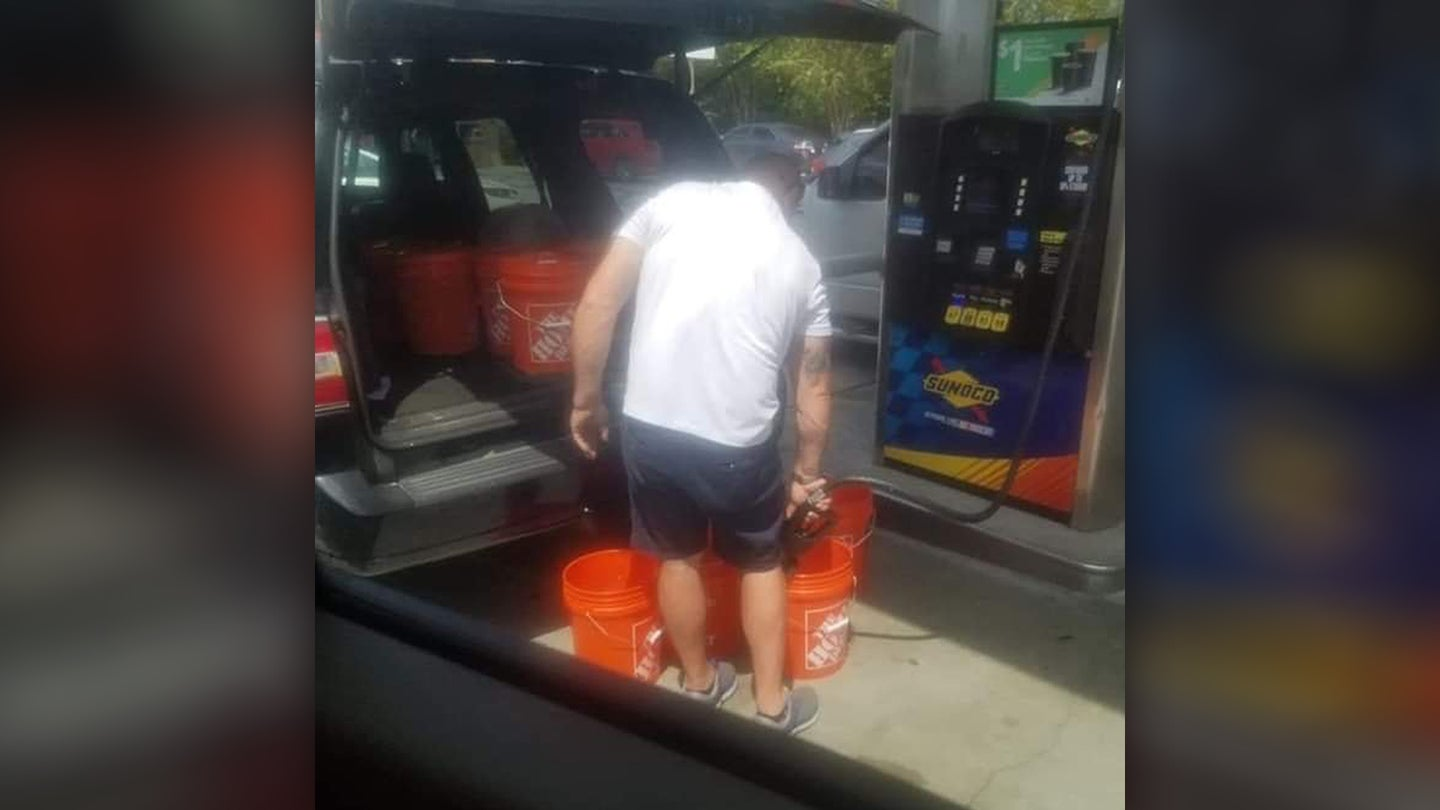 Florida Man Gas Bucket