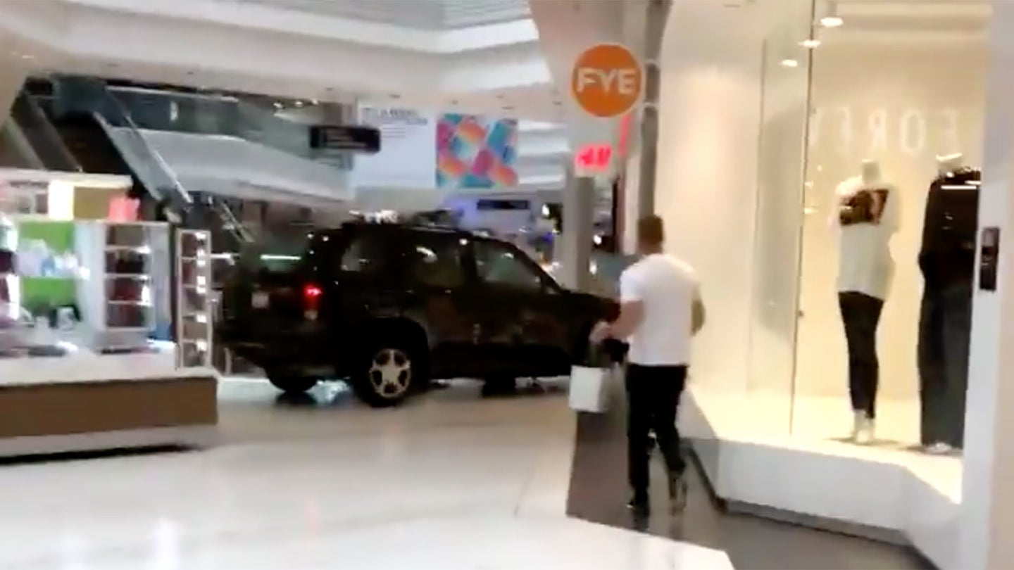 SUV in mall