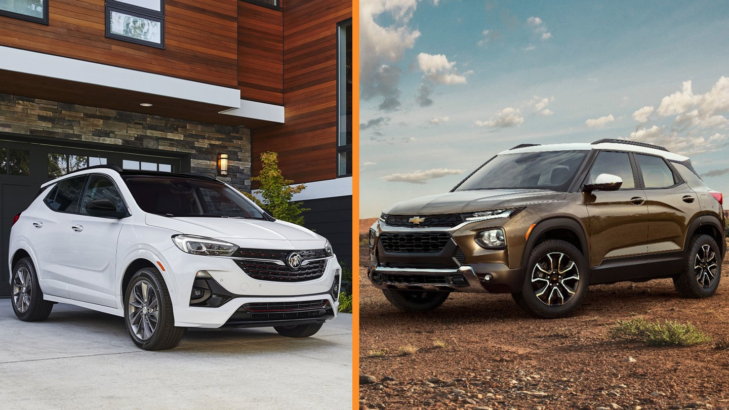 2020 Buick Encore GX and 2021 Chevy Trailblazer