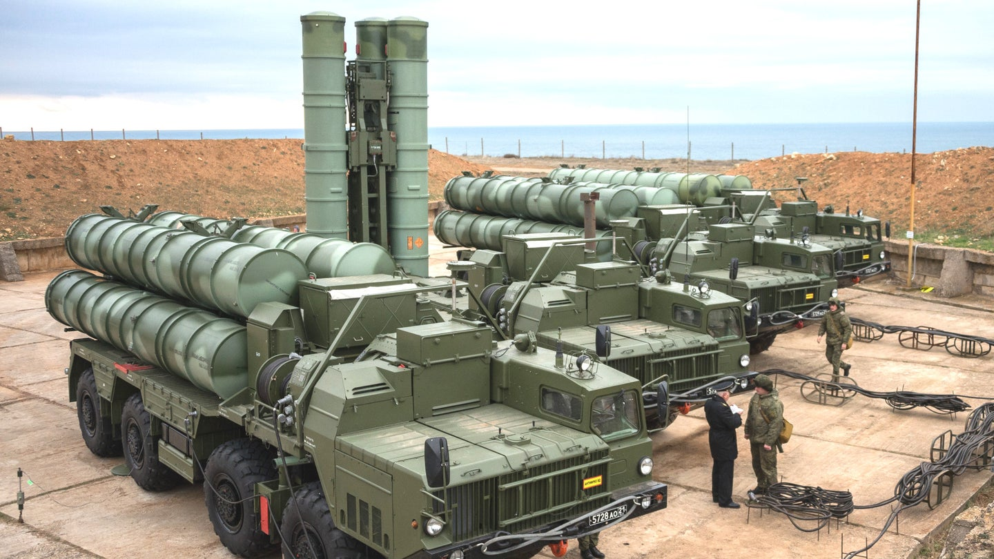 Russian S-400 air defense systems.