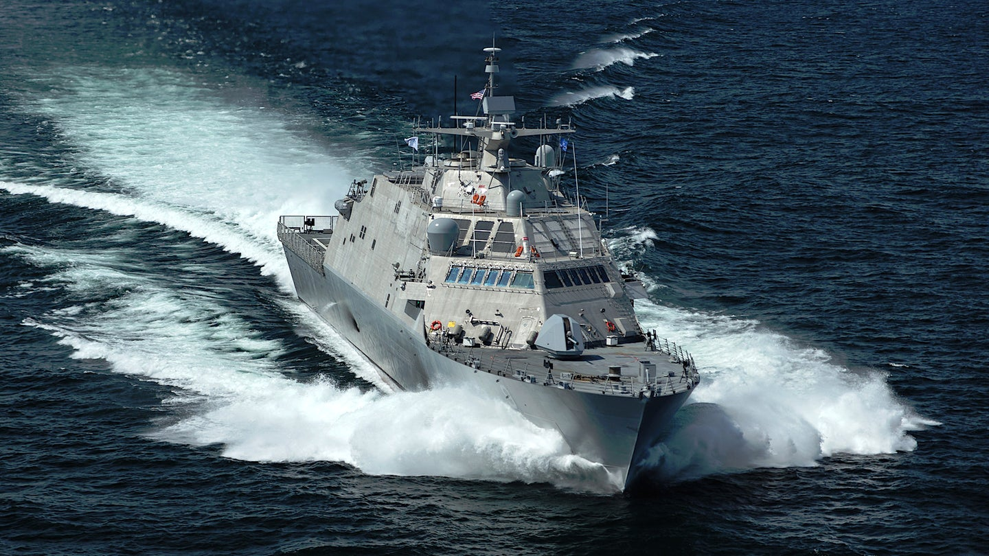 The Freedom class Littoral Combat Ship USS Little Rock.
