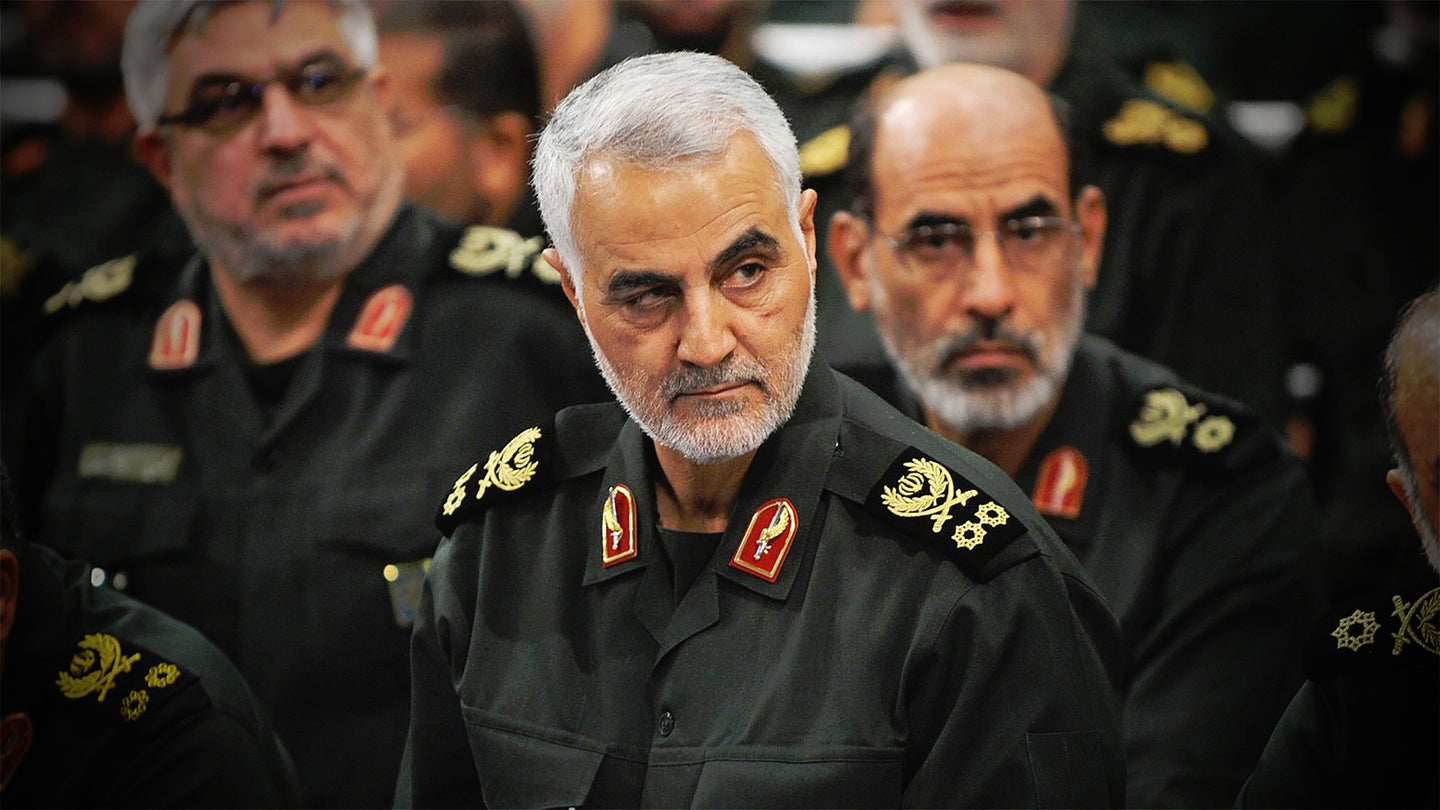 Qasem Soleimani, head of Iran's Quds Force, who was killed in a US strike in Iraq in January 2019.