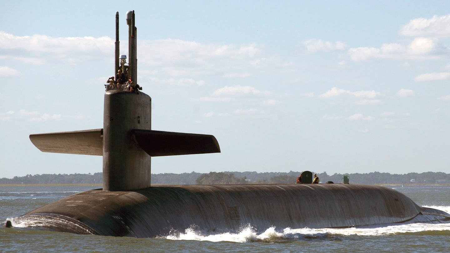 The Ohio class ballistic missile submarine USS Tennessee.