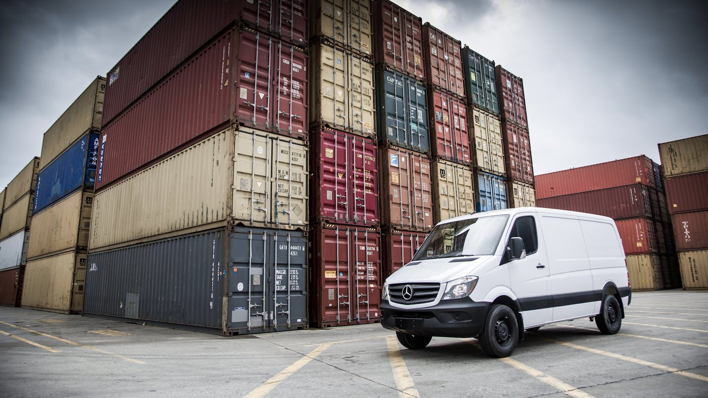 Sprinter in Container Port