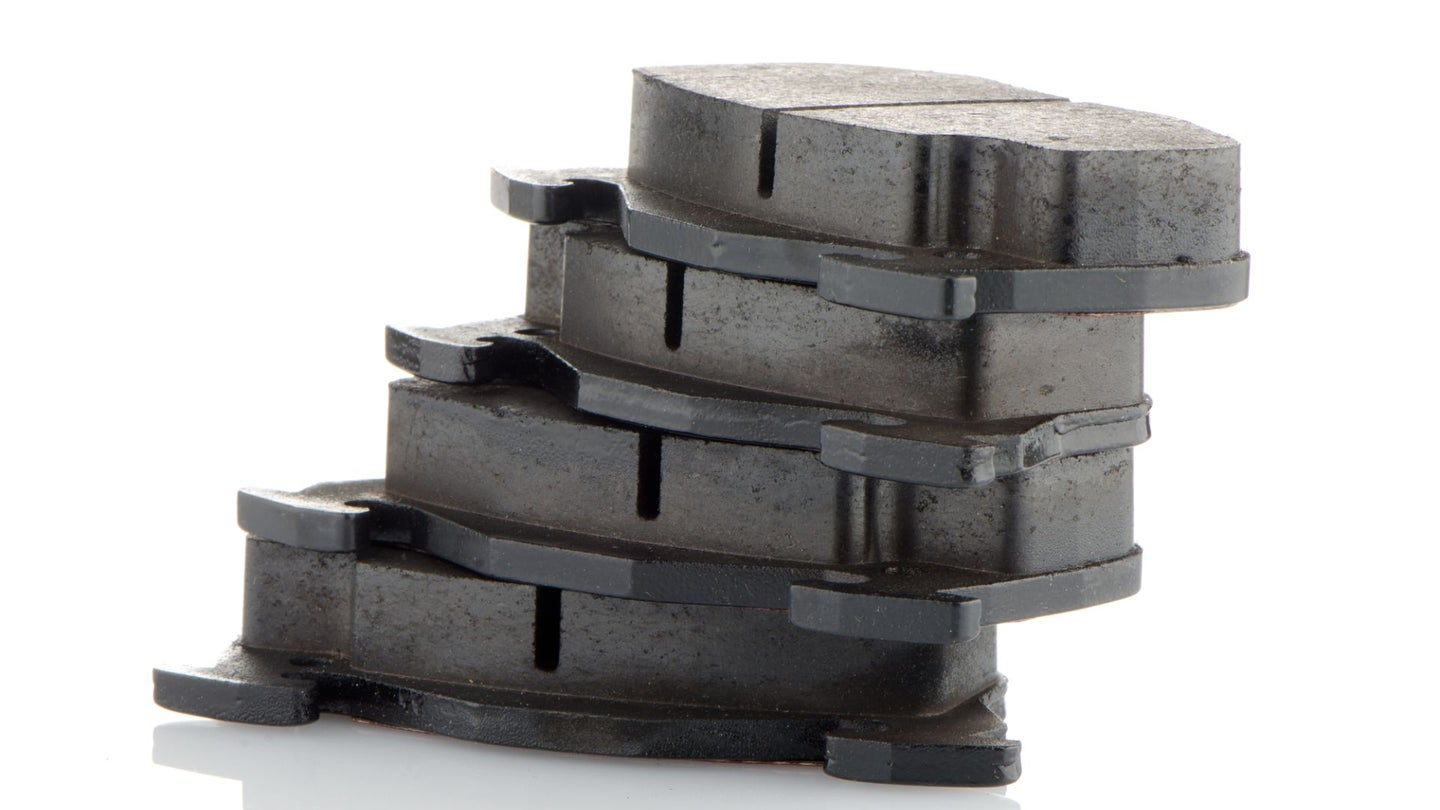 A stack of brake pads.