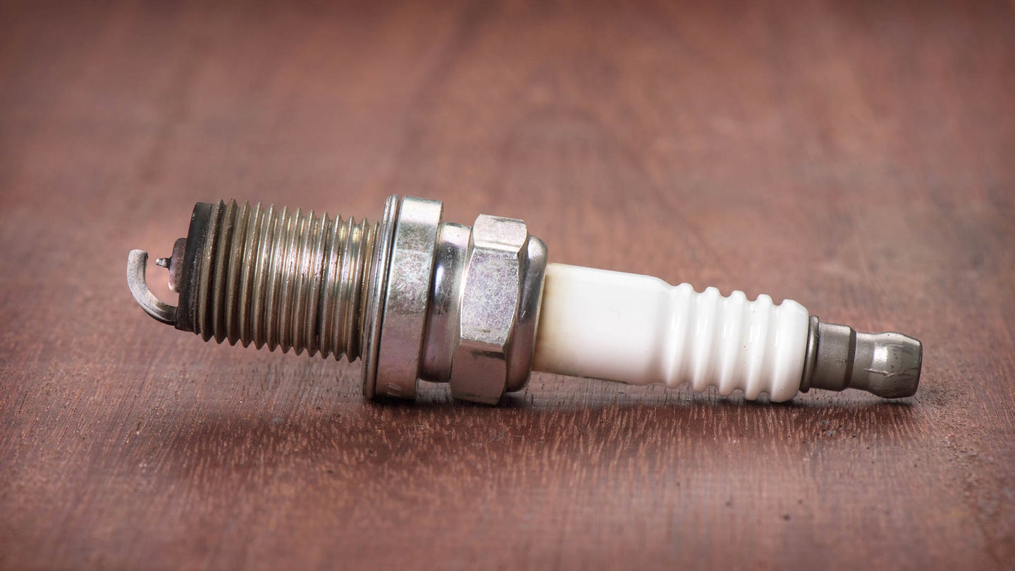 Fouled spark plugs need to be replaced.