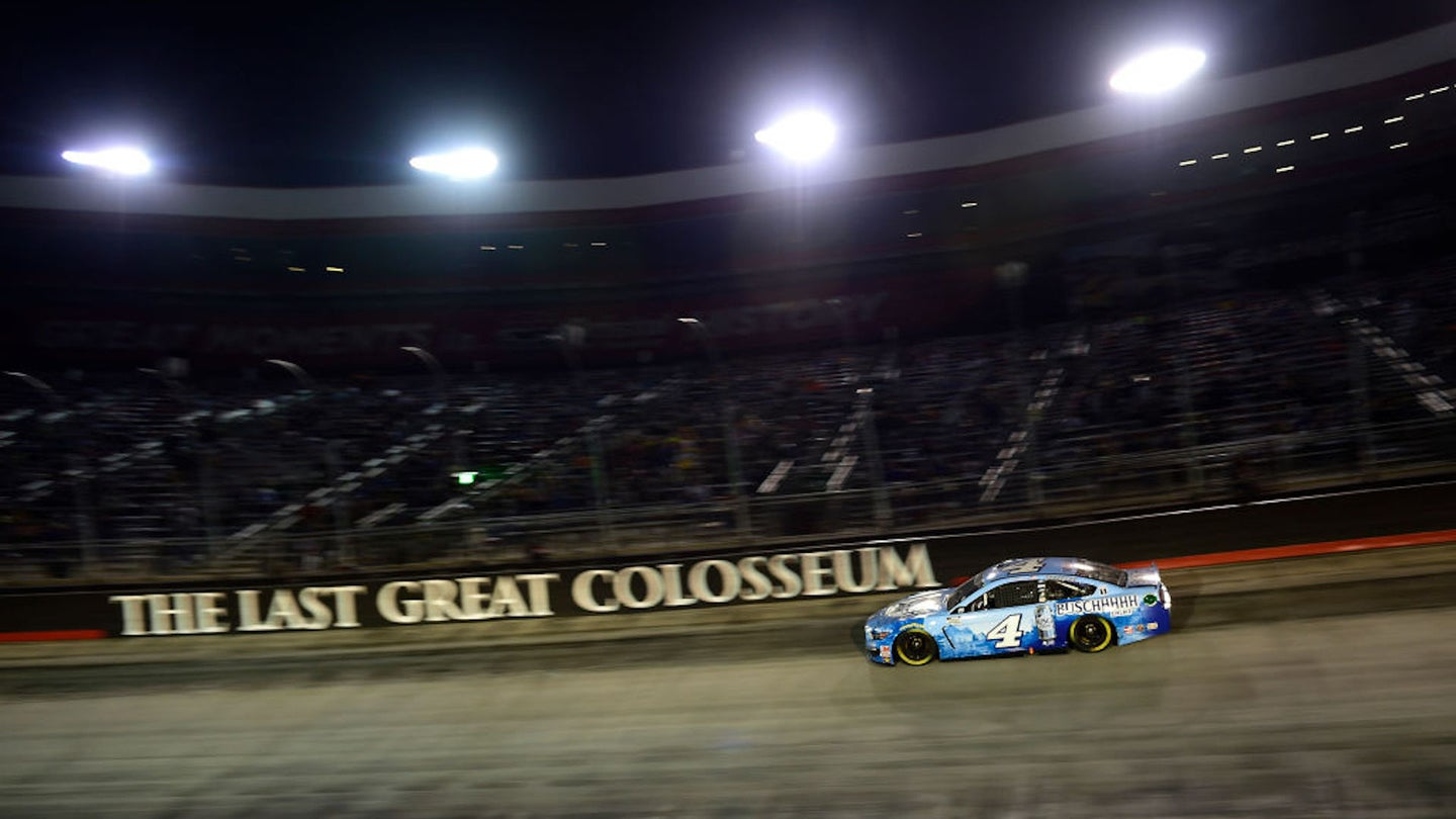 BRISTOL, TENNESSEE - SEPTEMBER 19: Kevin Harvick, driver of the #4 Busch Light Ford, drives during the NASCAR Cup Series Bass Pro Shops Night Race at Bristol Motor Speedway on September 19, 2020 in Bristol, Tennessee. (Photo by Jared C. Tilton/Getty Images)