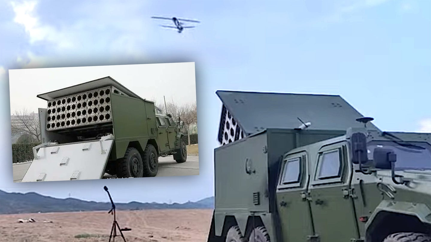 China Conducts Test of Massive Suicide Drone Swarm Launched From a Box on a Truck