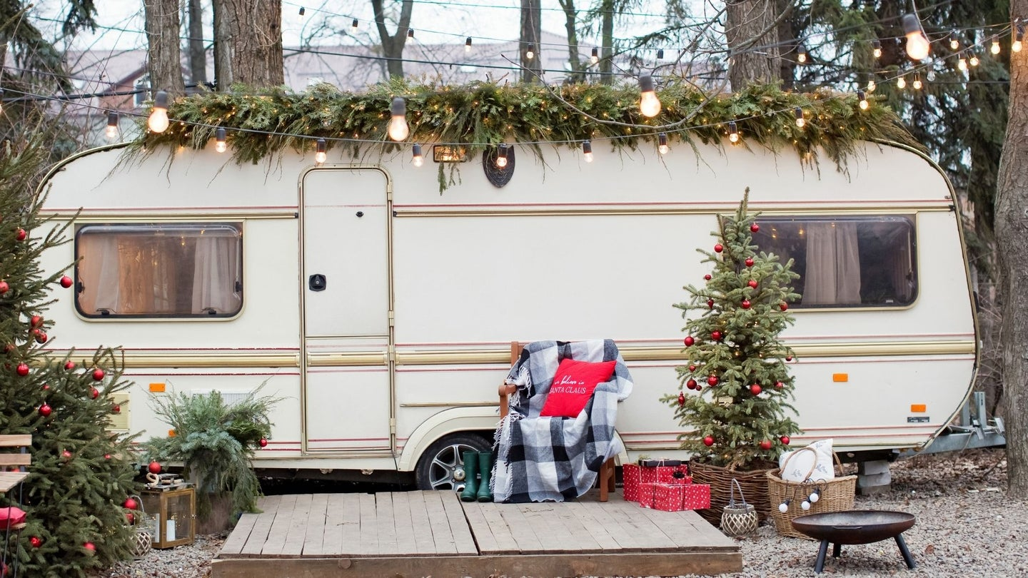 RV with Christmas Decoration