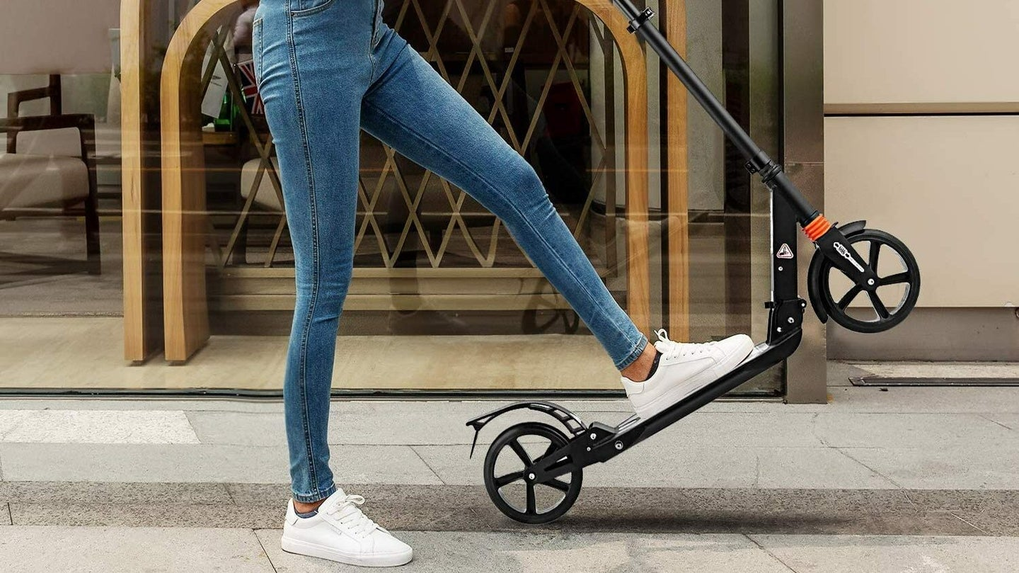 Woman With Best Scooter for Adults
