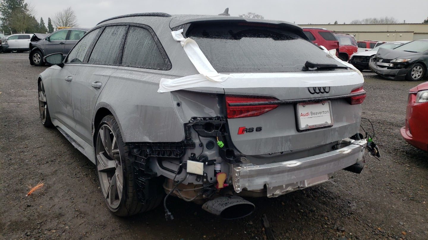 wrecked rs6 avant lead