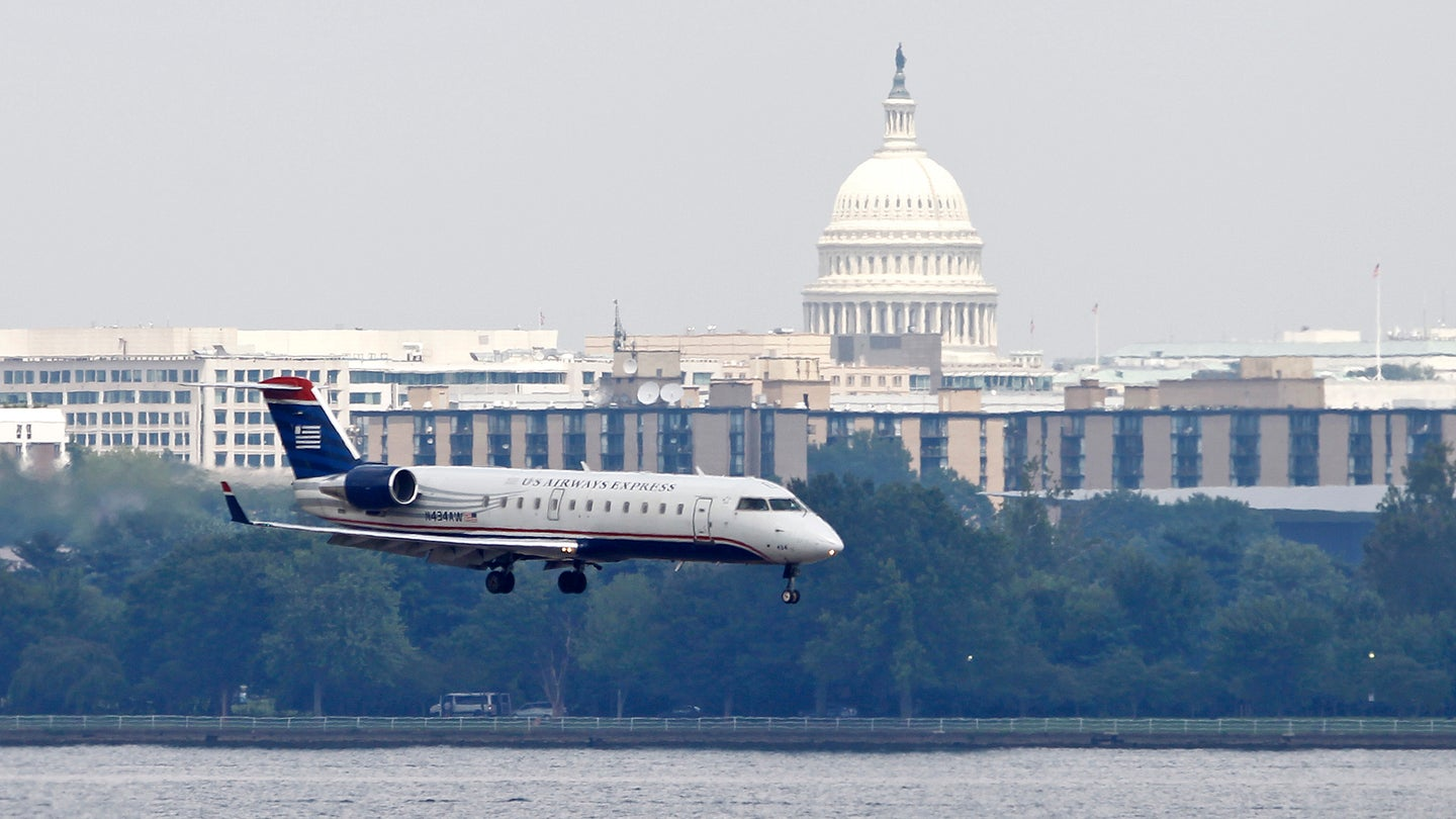 Washington DC Airliner with Capitol