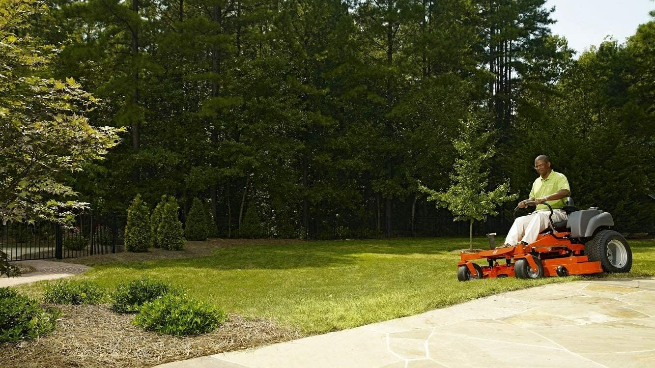 Man With Zero-Turn Mower