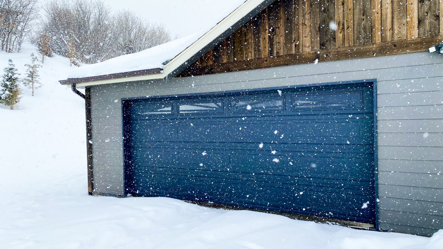 A garage best by winter.
