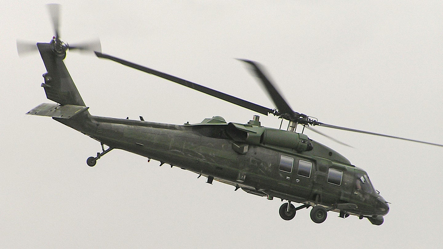 A VH-60N seen flying over Kabul Afghanistan during President George W. Bush's visit in 2006.