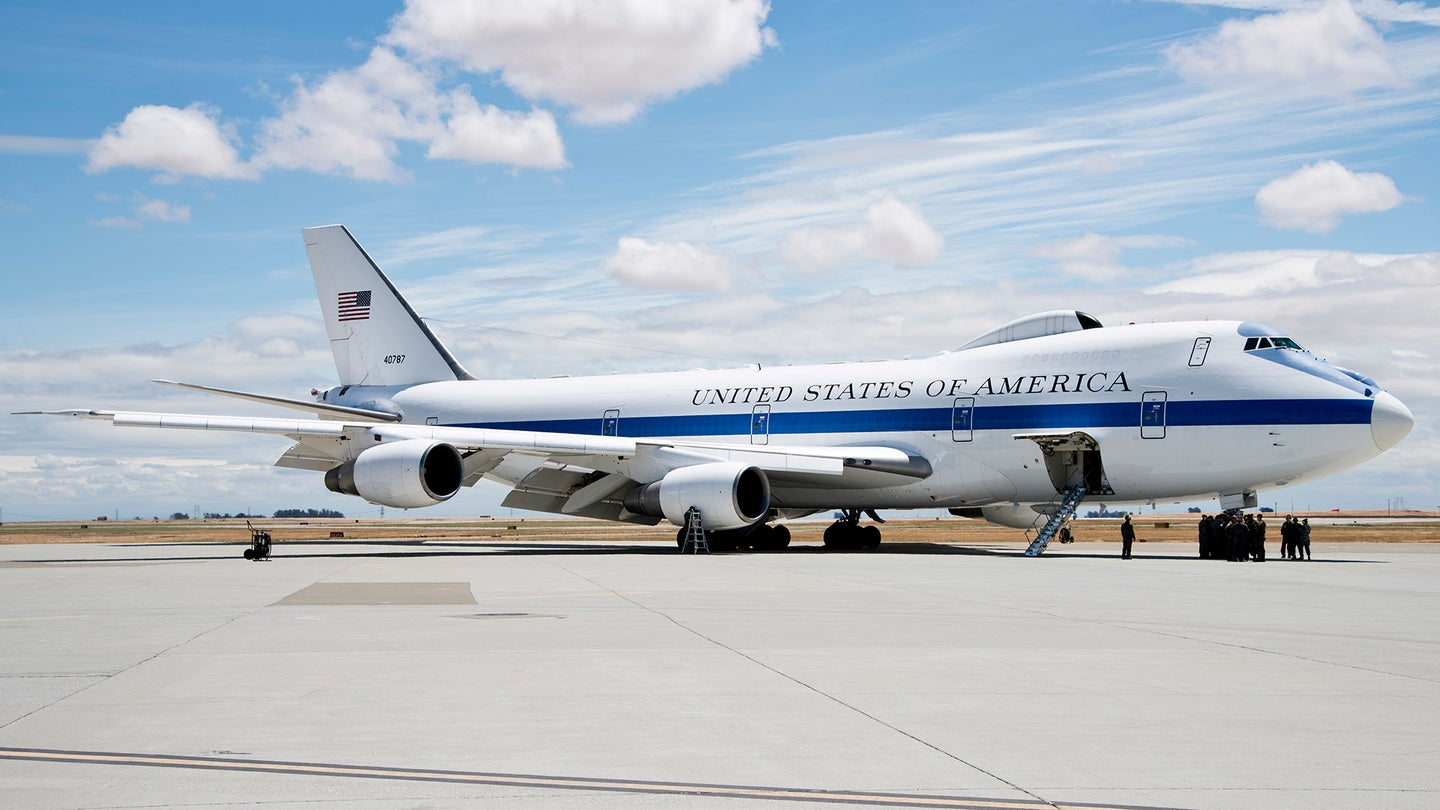 """E-4B """"Doomsday Plane"""" Just Made A Highly Unusual Visit To Secretive Test Range Airport"""