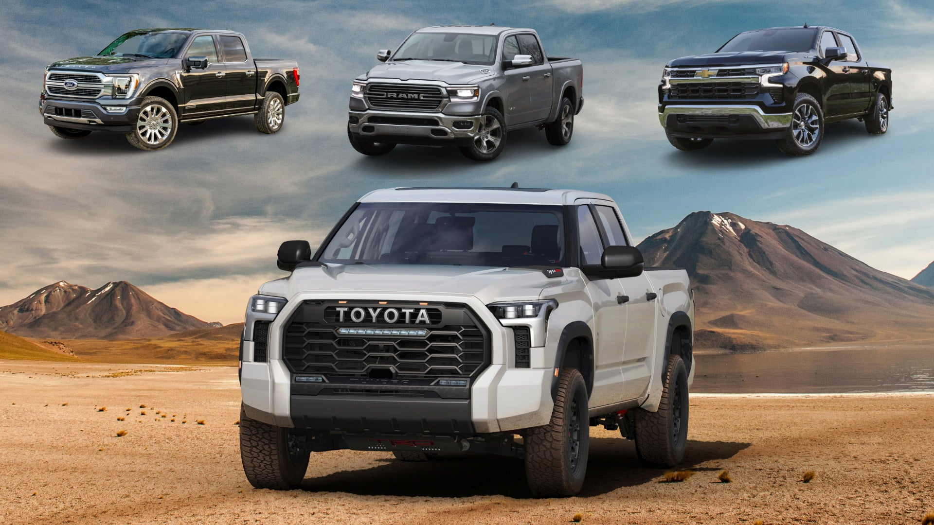 The 2022 Toyota Tundra Compared to the Ford F-150, Ram 1500, Chevy Silverado 1500 - The Drive