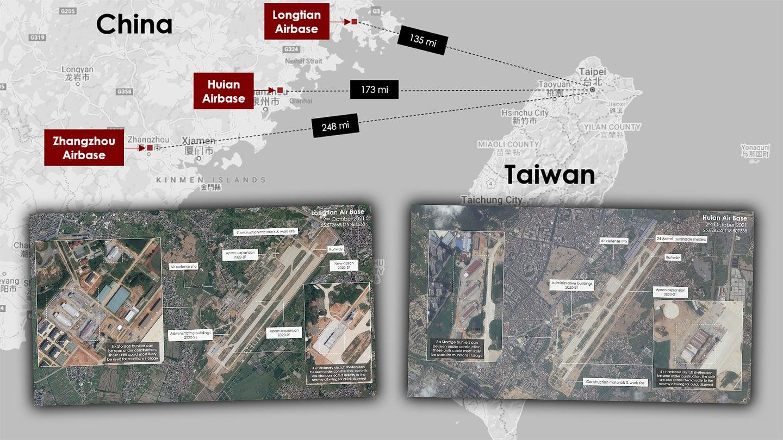 PLAAF bases near Taiwan under construction