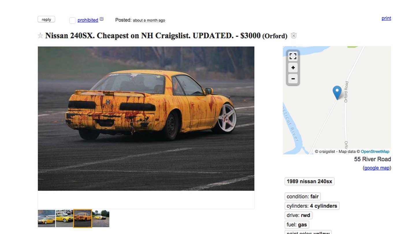 Is This Nissan 240SX the Worst Car on Craigslist? | The Drive