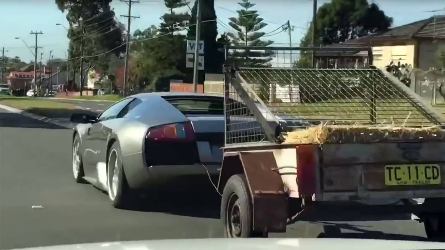 Lamborghini towing