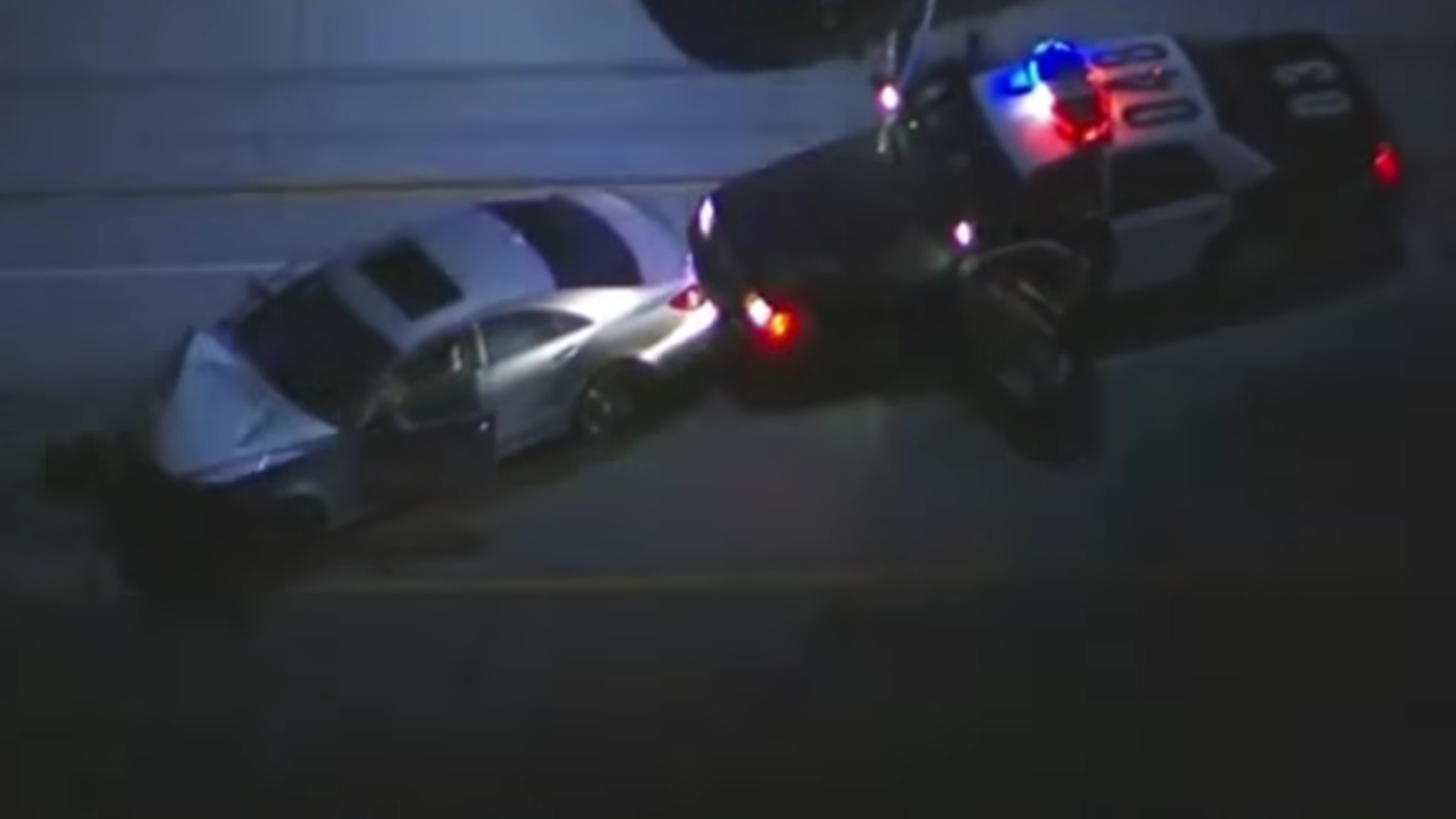 Mercedes-Benz CLS Crash California Police Chase