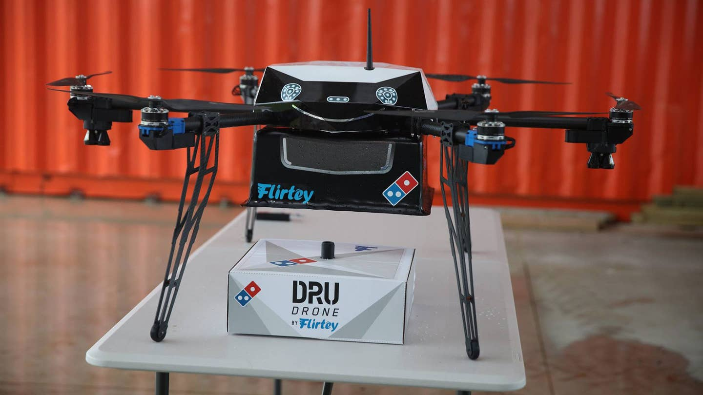 dominos pizza drone new zealand